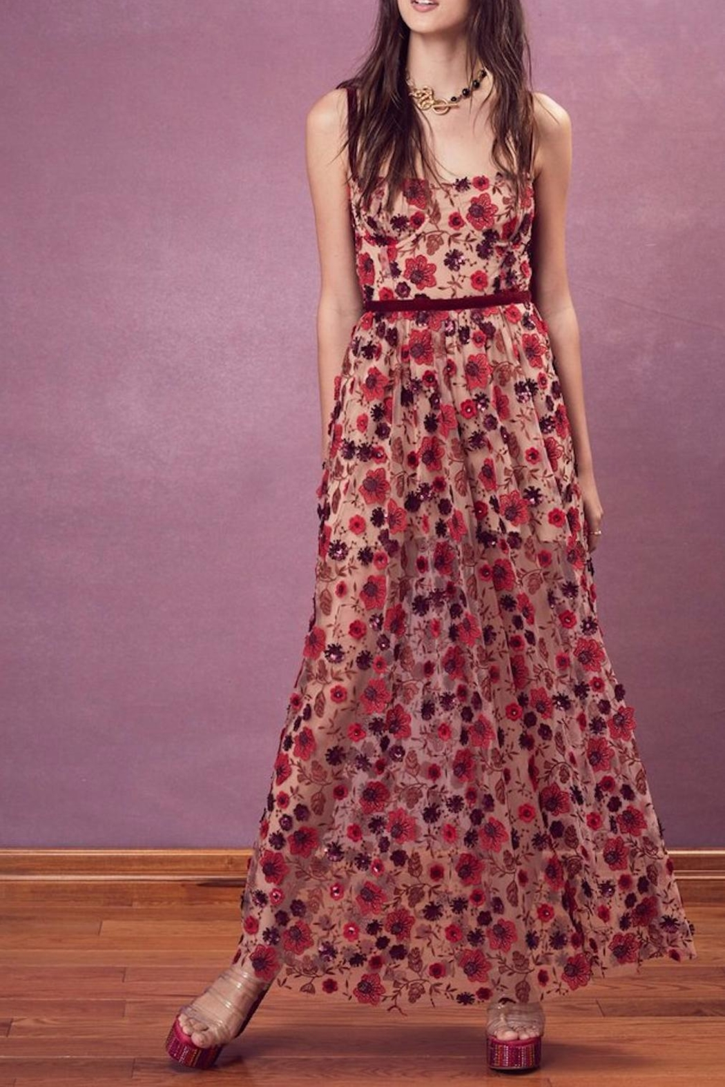 FOR LOVE & LEMONS Beatrice Maxi Dress - Main Image