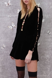 FOR LOVE & LEMONS Beatrix Velvet Button Dress - Product Mini Image