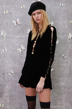 FOR LOVE & LEMONS Beatrix Velvet Dress - Alternate List Image