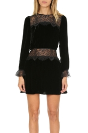 FOR LOVE & LEMONS Beatrix Velvet-Lace Dress - Product Mini Image