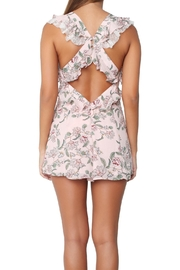FOR LOVE & LEMONS Bee-Balm Floral Romper - Front cropped
