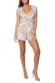 FOR LOVE & LEMONS Bee-Balm Floral Romper - Back cropped
