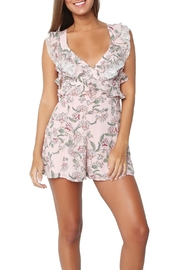 FOR LOVE & LEMONS Bee-Balm Floral Romper - Front full body
