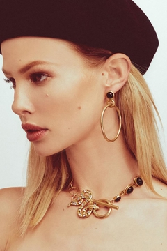FOR LOVE & LEMONS Big Loop Earrings - Alternate List Image
