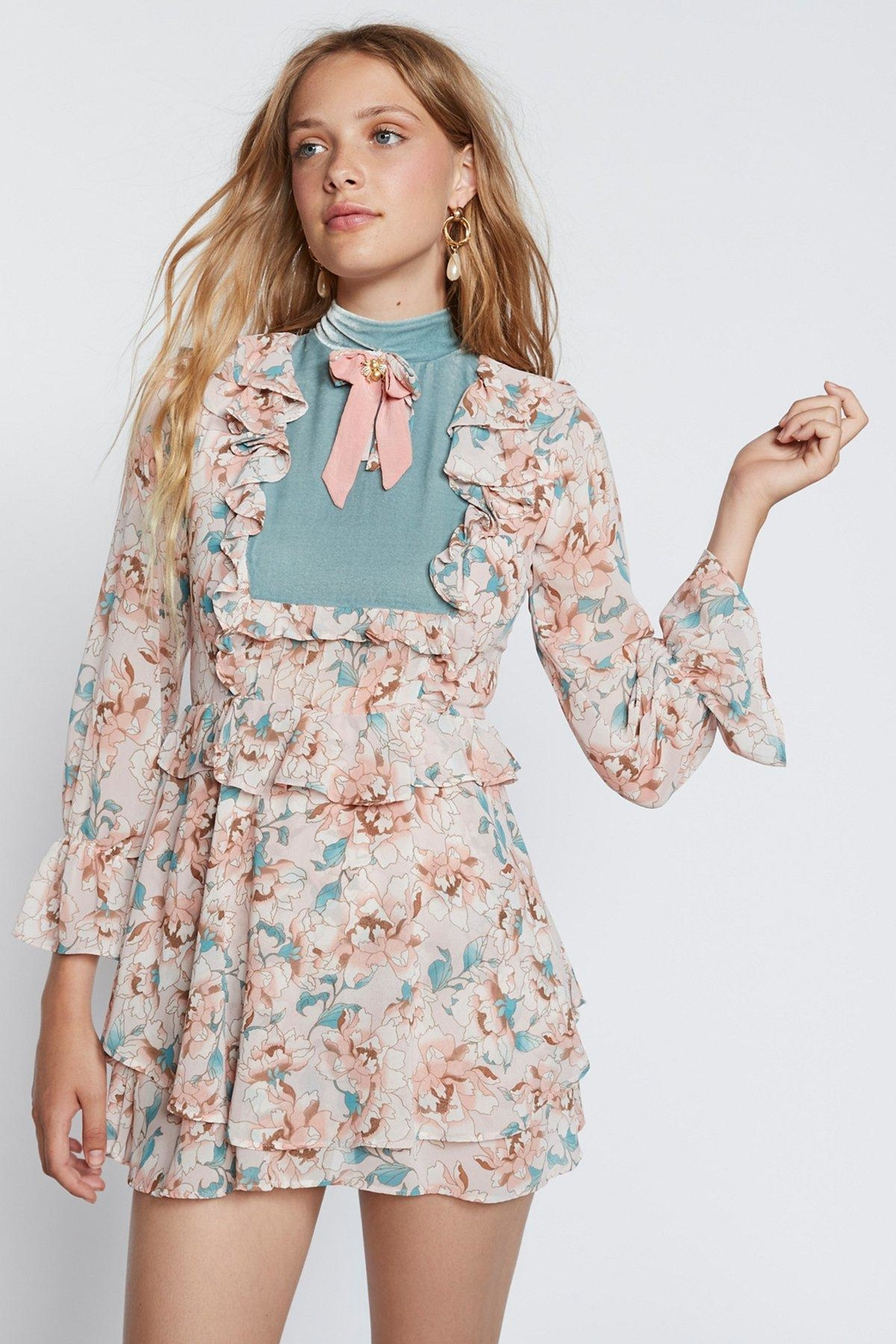 FOR LOVE & LEMONS Blossom Sleeved Dress - Main Image