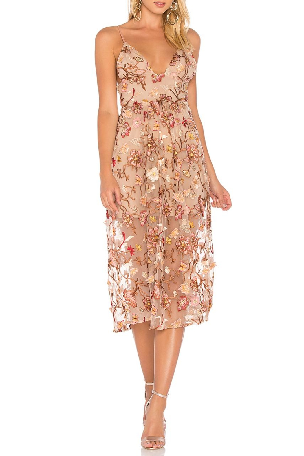 FOR LOVE & LEMONS Botanic Midi Dress - Main Image