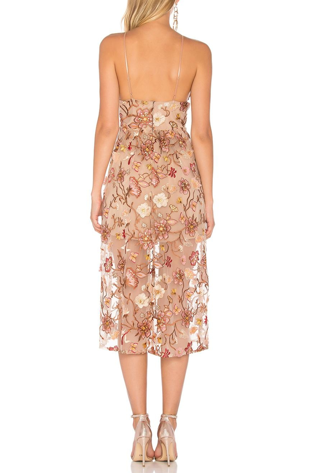 FOR LOVE & LEMONS Botanic Midi Dress - Side Cropped Image