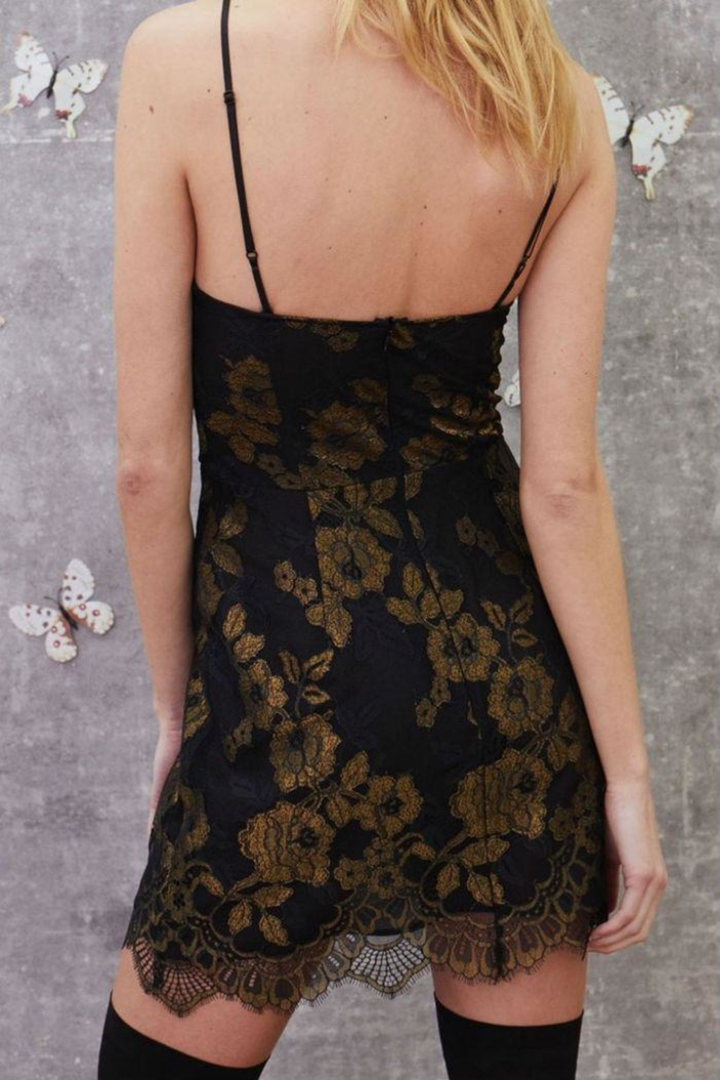 FOR LOVE & LEMONS Bumble Bustier Dress - Back Cropped Image