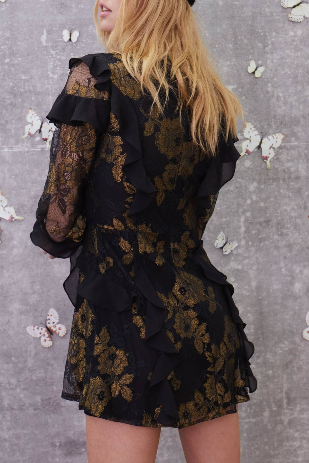 FOR LOVE & LEMONS Bumble Ruffle Dress - Front Full Image