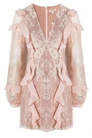 FOR LOVE & LEMONS Bumble Ruffle Dress - Product Mini Image