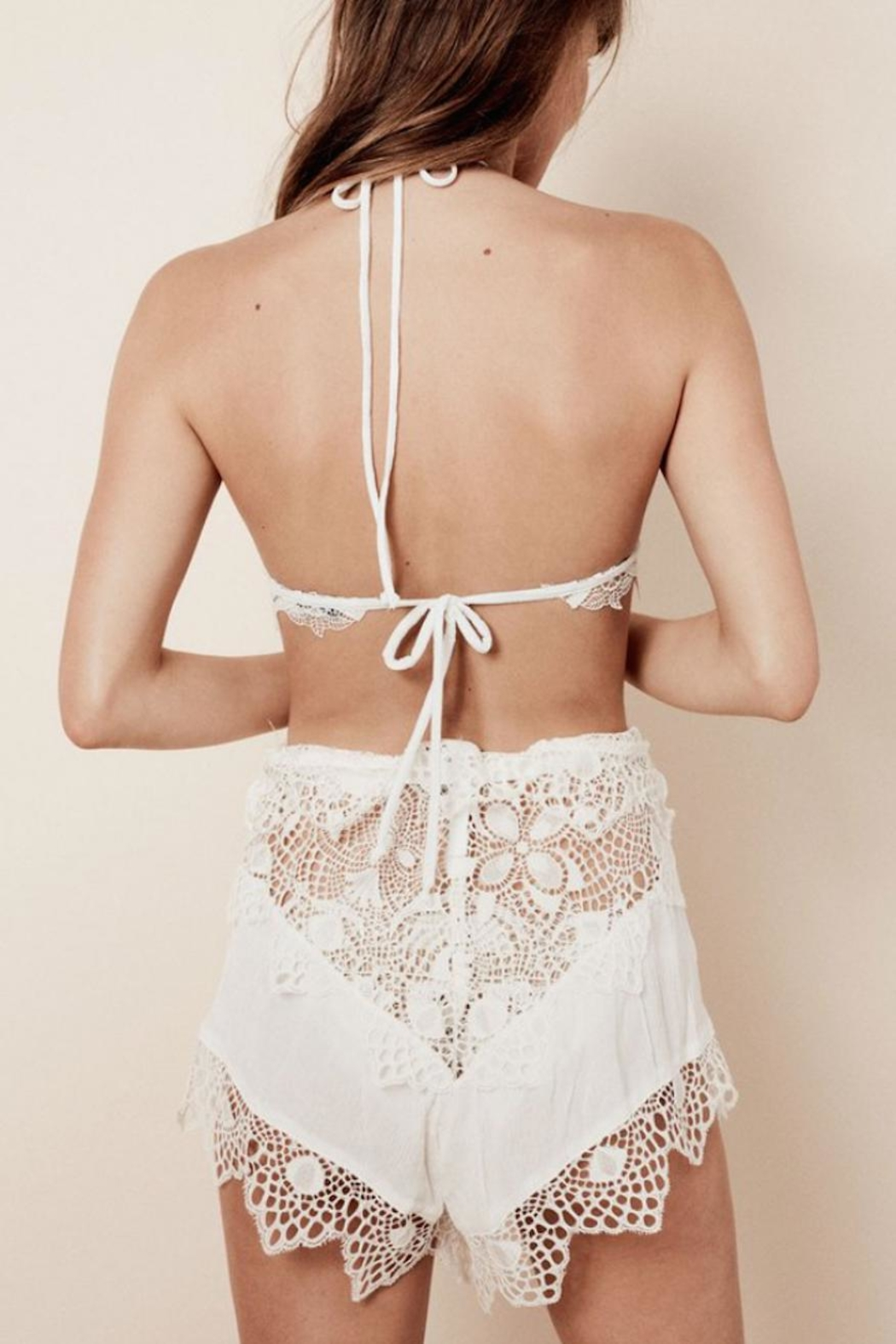 FOR LOVE & LEMONS Caracas Lace Shorts - Front Full Image