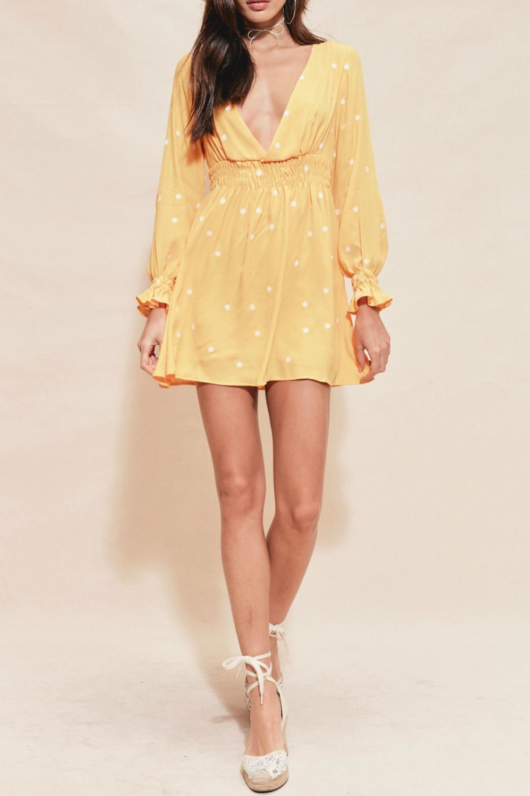 FOR LOVE & LEMONS Chiquita Embroidered Dress - Front Full Image