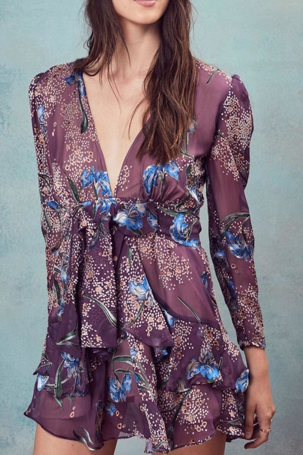 FOR LOVE & LEMONS Cleo Floral Dress - Front Cropped Image