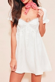 FOR LOVE & LEMONS Cream Babydoll Dress - Product Mini Image