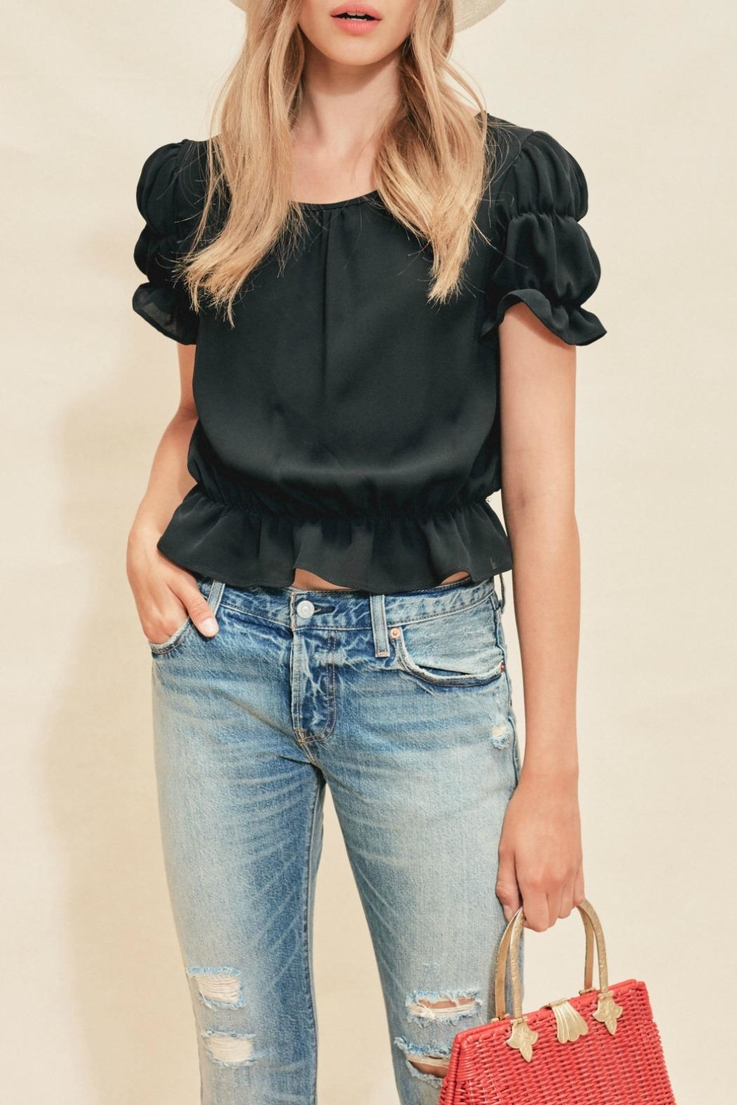 FOR LOVE & LEMONS Cropped Ruffle Top - Main Image