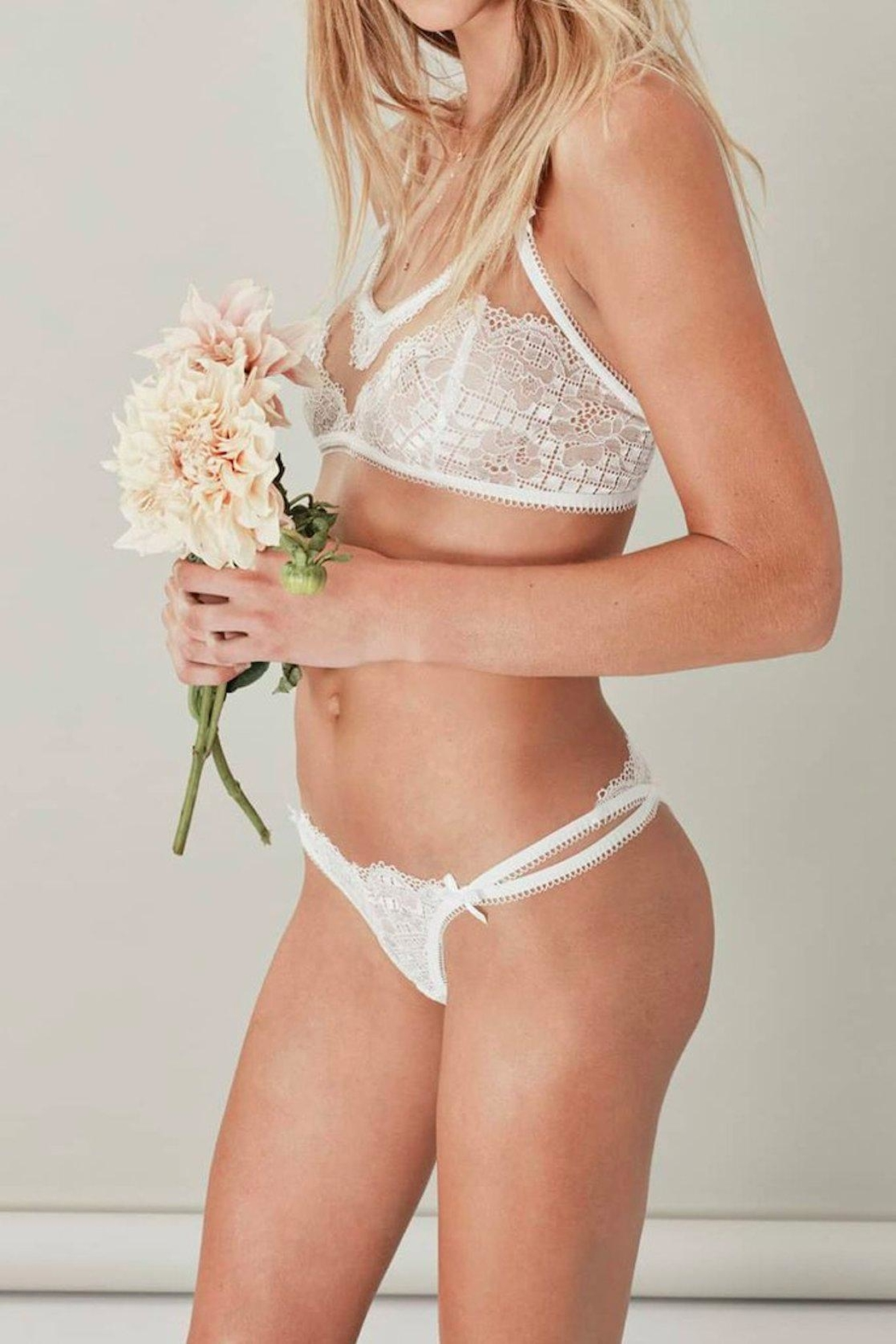 FOR LOVE & LEMONS Daffodil Cami Bralette - Front Full Image