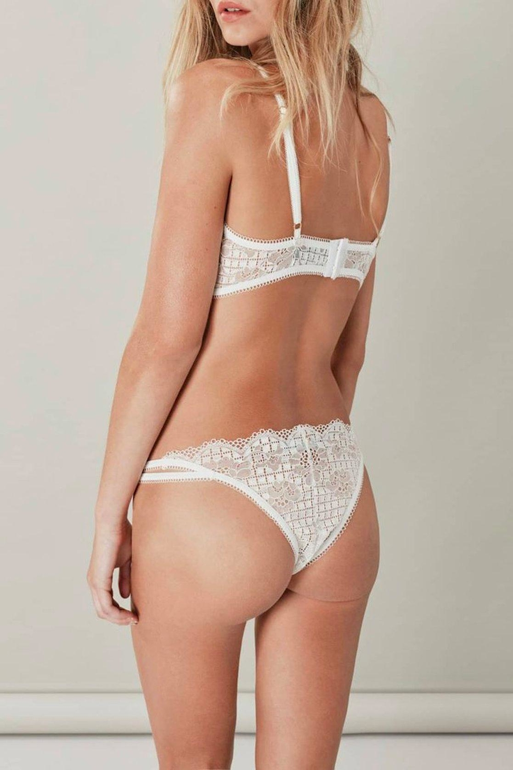 FOR LOVE & LEMONS Daffodil Cami Bralette - Back Cropped Image