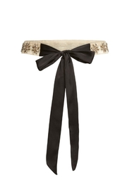 FOR LOVE & LEMONS Daisy Beaded Belt - Front full body