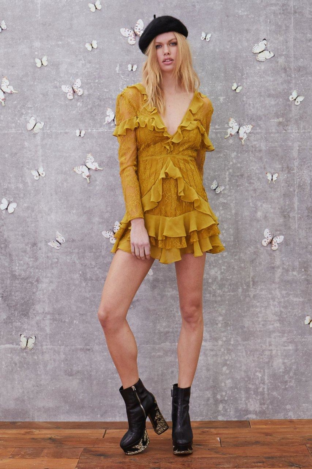 FOR LOVE & LEMONS Daphne Lace Mini - Front Full Image