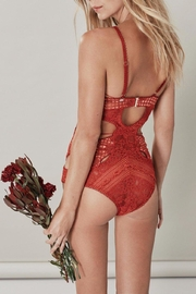 FOR LOVE & LEMONS Etienne Lace Bodysuit - Front full body