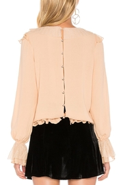FOR LOVE & LEMONS Evie Button Ruffle-Blouse - Side cropped