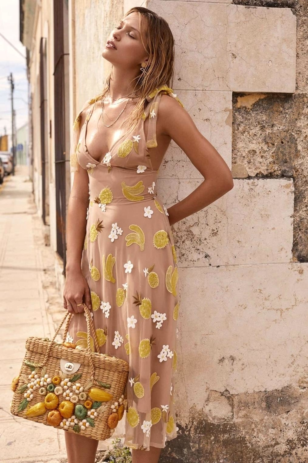 For Love Lemons Fruitpunch Midi Dress Front Cropped Image