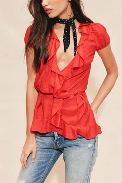 FOR LOVE & LEMONS Gabriella Silk Blouse - Alternate List Image