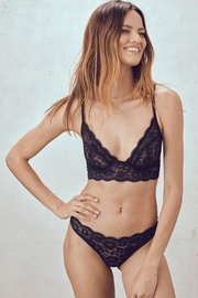 FOR LOVE & LEMONS Havana Lace Thong - Front cropped