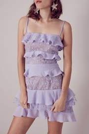 FOR LOVE & LEMONS Lilac Cosmic Tiered Lace - Front cropped