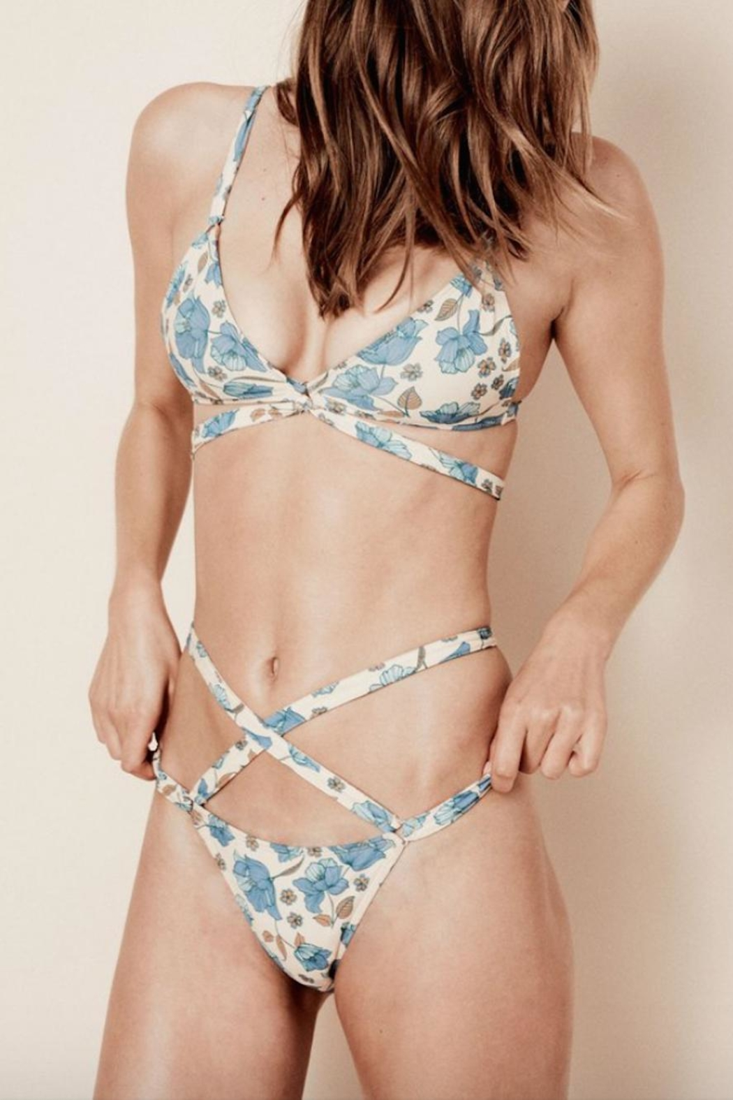 FOR LOVE & LEMONS Tulipe Strappy Bikini Top - Main Image