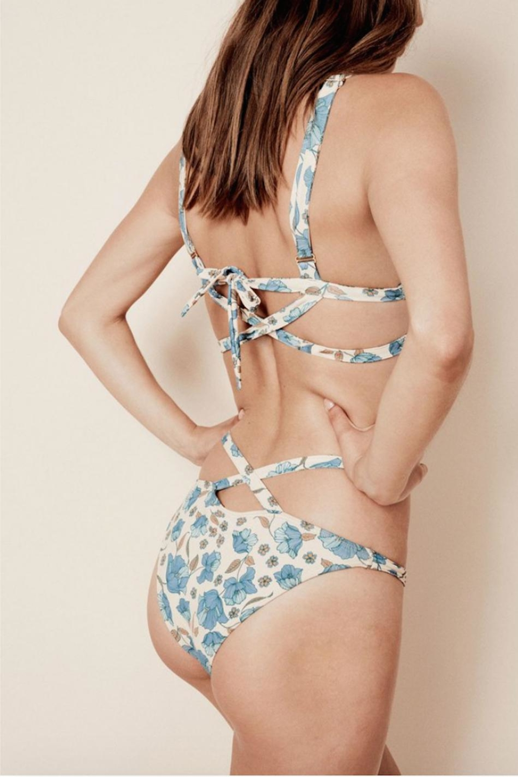 FOR LOVE & LEMONS Tulipe Strappy Bikini Top - Front Full Image