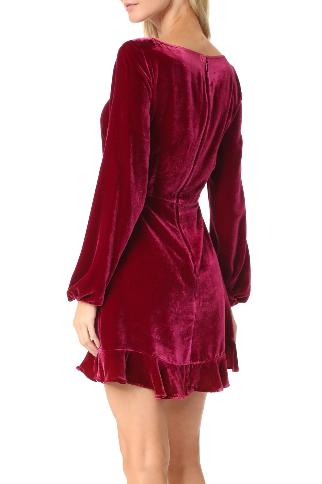 FOR LOVE & LEMONS Velvet Mini Dress - Front Full Image