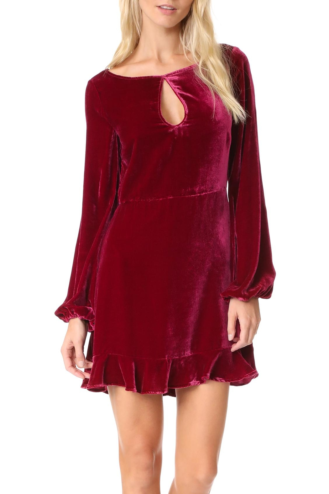 FOR LOVE & LEMONS Velvet Mini Dress - Main Image