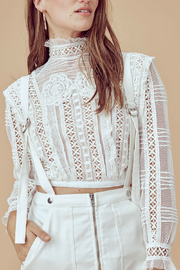 FOR LOVE & LEMONS Victoria Tulle Blouse - Product Mini Image