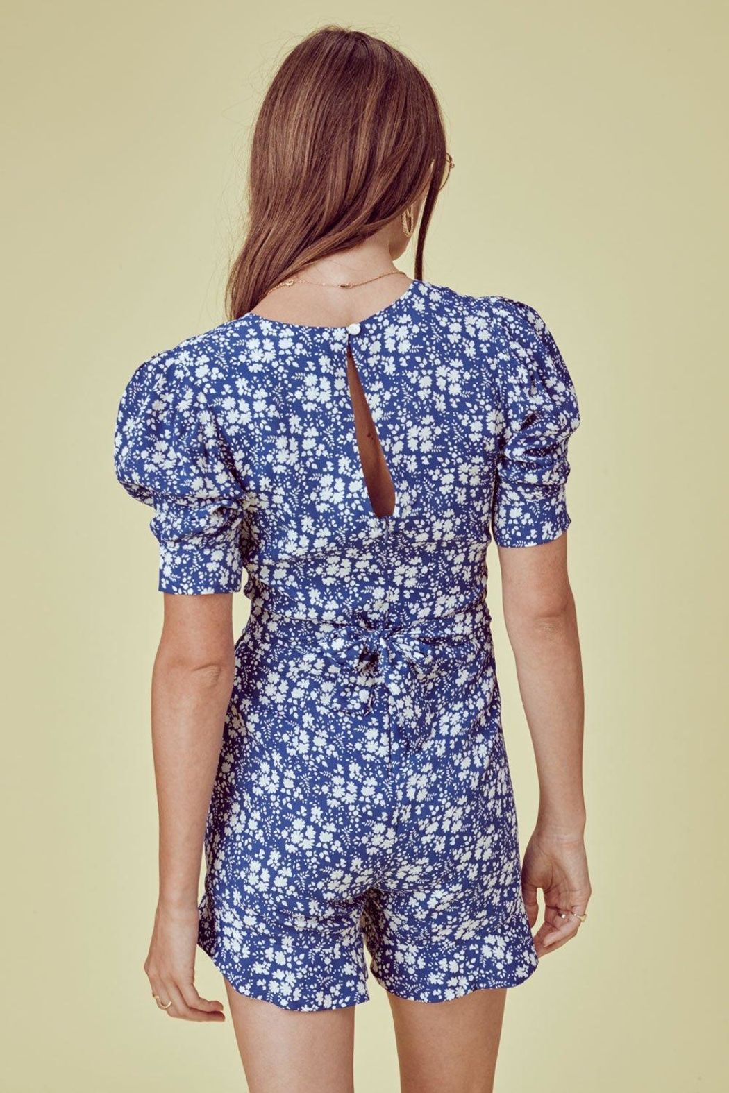 FOR LOVE & LEMONS Zamira Floral Romper - Back Cropped Image