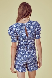FOR LOVE & LEMONS Zamira Floral Romper - Back cropped
