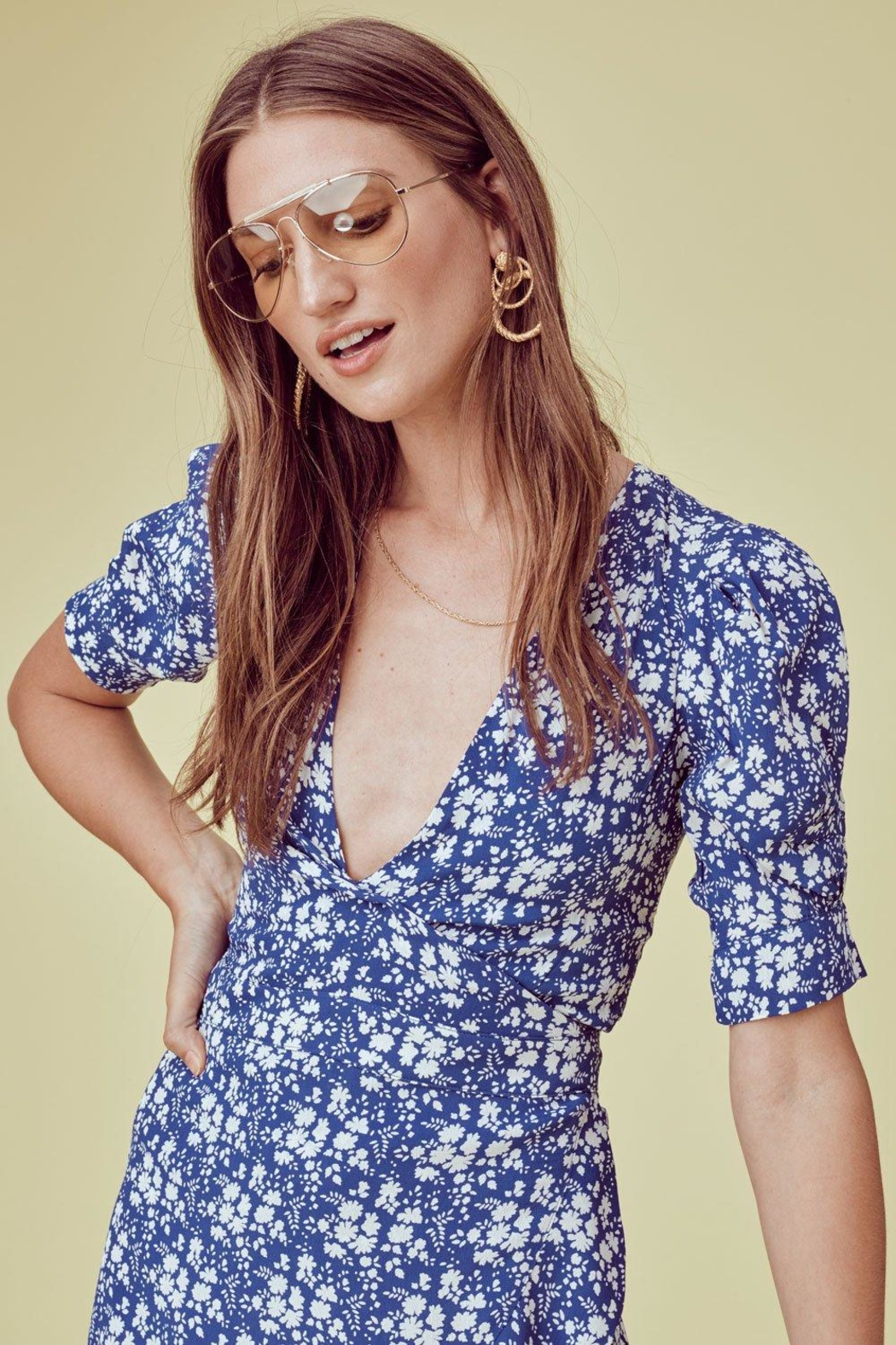 FOR LOVE & LEMONS Zamira Floral Romper - Side Cropped Image