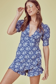 FOR LOVE & LEMONS Zamira Floral Romper - Front cropped