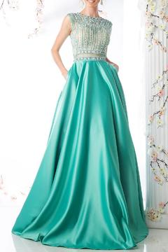 Shoptiques Product: Sleeveless Beaded Ball Gown