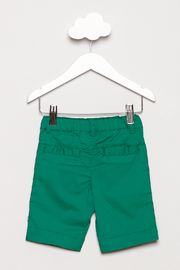 FORE Green Shorts - Back cropped