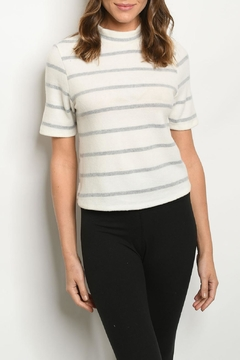 FORE Ivory Gray Top - Product List Image