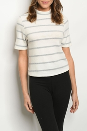 FORE Ivory Gray Top - Product Mini Image