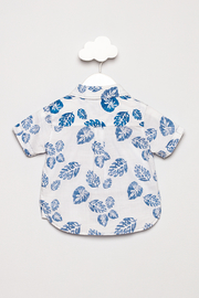 FORE Leaf Print Shirt - Back cropped
