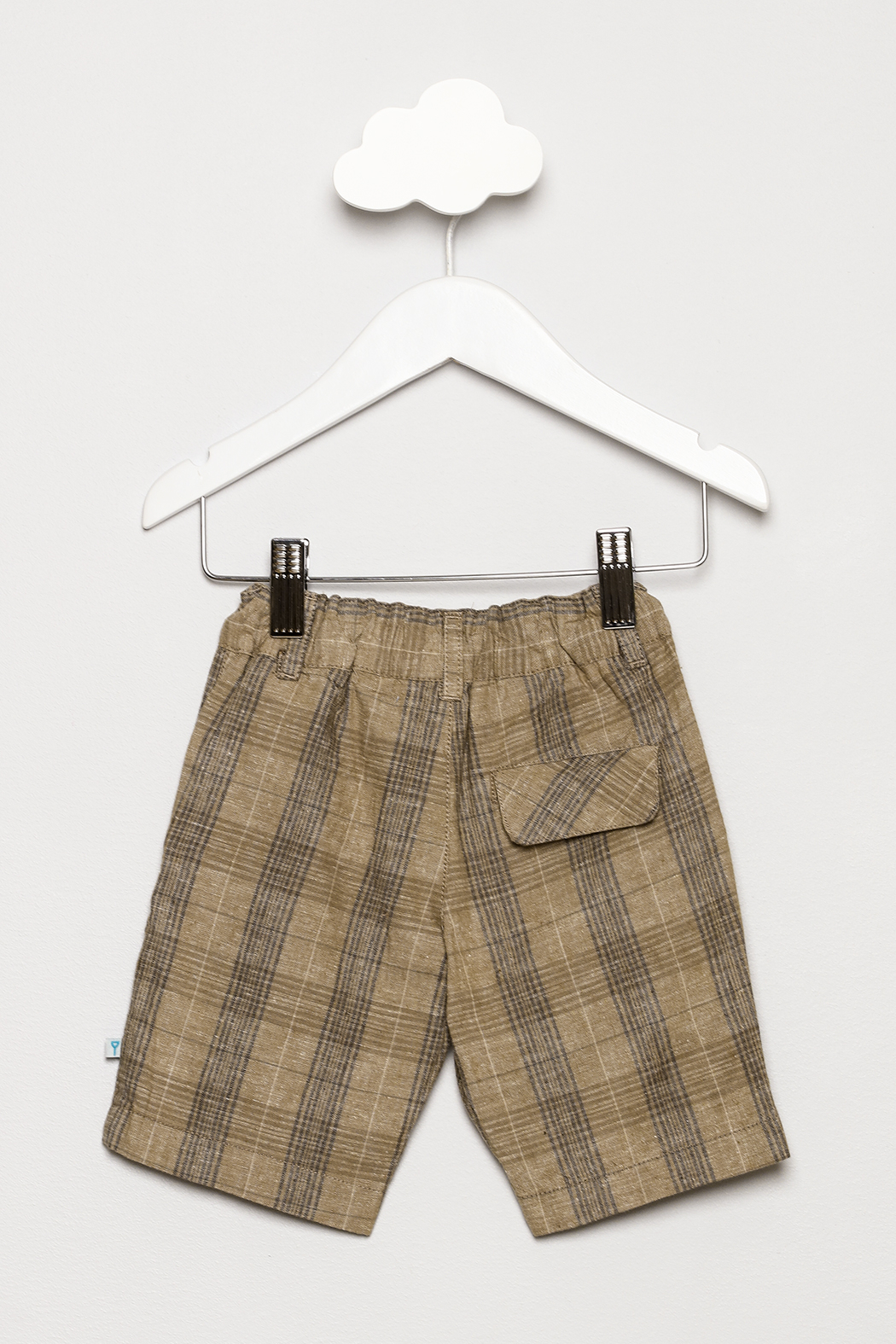 FORE Tan Plaid Shorts - Back Cropped Image