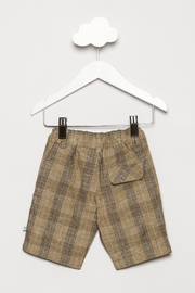 FORE Tan Plaid Shorts - Back cropped