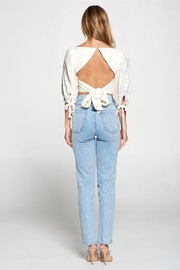 Fore Collection Crochet Sleeve Open Back Top - Side cropped