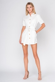 Fore Collection Denim Belted Romper - Product Mini Image