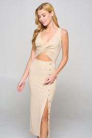 Fore Collection Midi Cut Out Bodycon Dress - Product Mini Image
