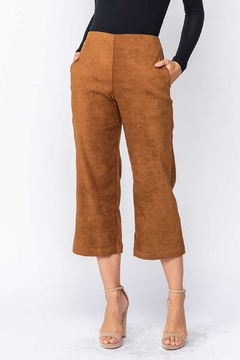 Fore Collection Suede Crop Pants - Product List Image