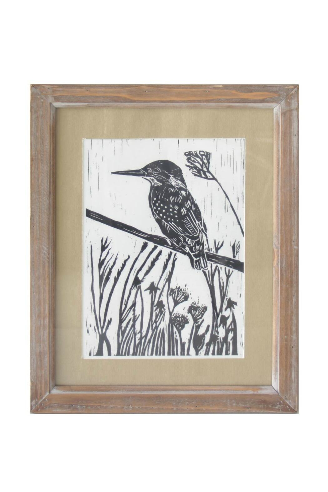 Foreside Bird Block Print - Front Cropped Image